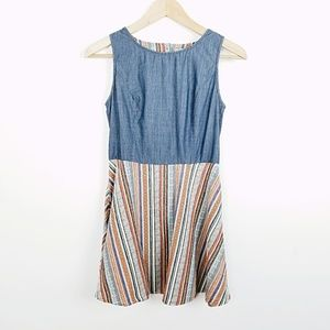 UO Skies Are Blue 1/2 Denim Dress | Small